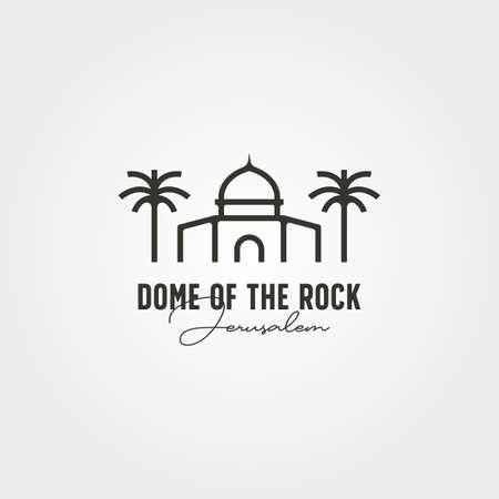 dome of the rock minimal logo vector symbol illustration design 向量圖像