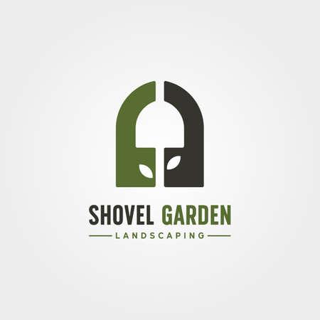 shovel garden creative logo vector symbol illustration design 向量圖像