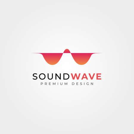 abstract sound wave vector logo design, letter W wave minimalist symbol illustration design 向量圖像