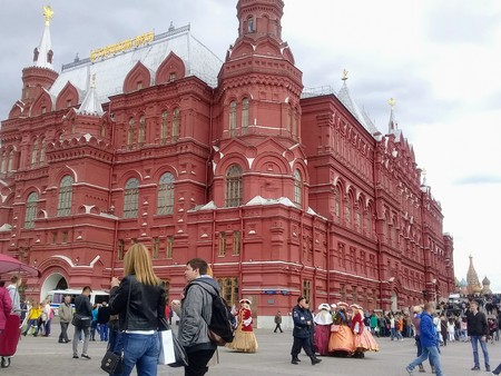State Historical Museum on Red Square in Moscow.