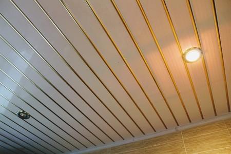 キッチンやバスルームに最適なパネル天井を中断しました。