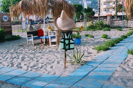 July, 2017 - A special decorative element on the Turkish beach (Alanya, Turkey). Editorial