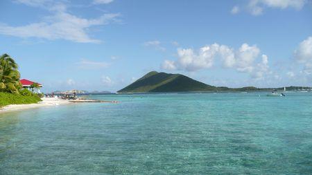 the virgin islands: Beautiful view of the British Virgin Islands