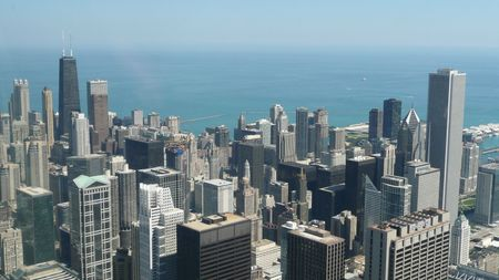 aon: The Chicago Skyline Stock Photo