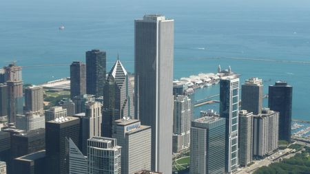 aon: This is a picture of the Aon Center in Chicago.