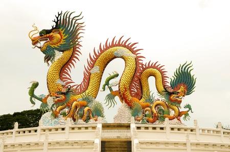 china dragon: Dragon statue Stock Photo