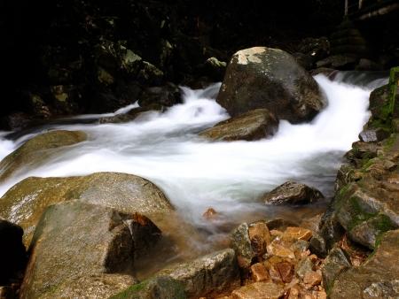 cataract falls: Plew Waterfall Stock Photo
