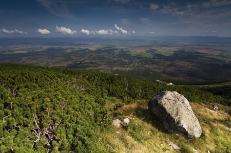 Panoramic view from the Slovakian Hills to the land photo
