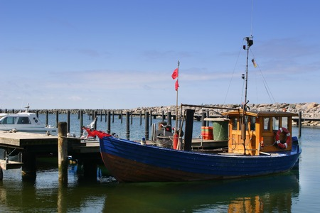 habour: Small fishing boat in a habor