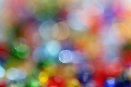 Decorative color blur with sparkling lights photo