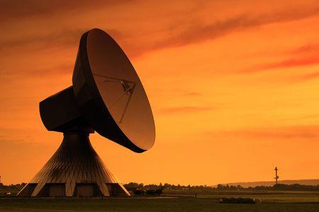 Huge Satellite Dish in the Evening Sun photo
