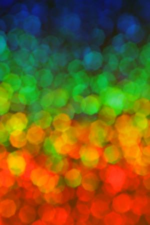 Colorful hexagon background in rainbow colors photo
