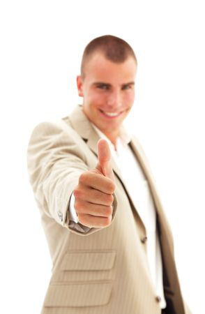 Businessman giving the thumbs-up photo