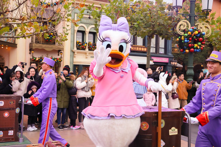 Greeting from daisy duck at disney Editorial