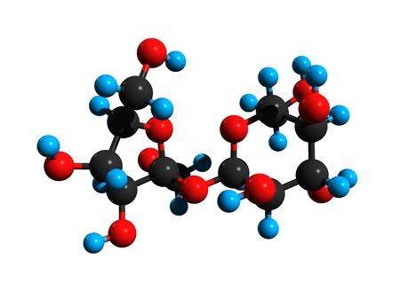 Molecular structure of sucrose (sugar; saccharose), common table sugar, 3D rendering Stock Photo