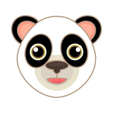 Icono De Dibujos Animados De Una Cara De Búho Con Ojos Grandes Y