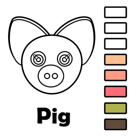 Libro Para Colorear Para Niños Pequeños Con Animales - Una Madre Con ...