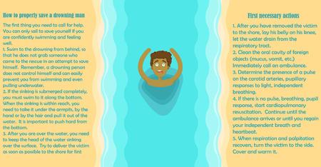 ビーチ、海、溺死します。情報、ルール、正しくそれを引き出す方法。休暇の状況。