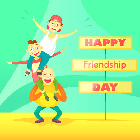 Card to the day of friendship