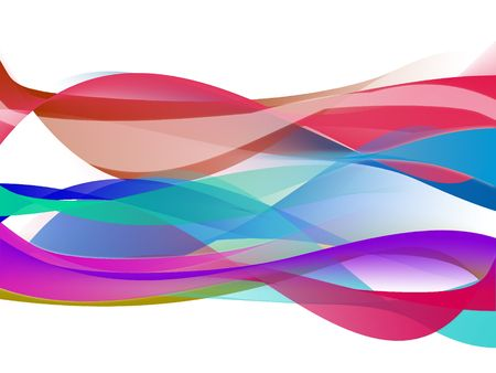 White background illustration multicolored waves abstract concept.