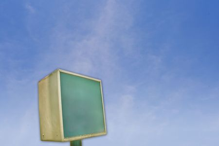 Neon street sign with blue sky as background. Stock Photo - 5602287