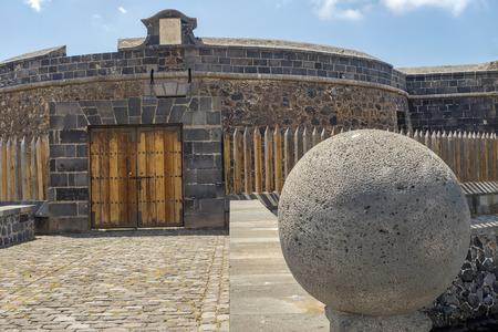 santa cruz de tenerife: Black Castle in Santa Cruz de Tenerife : the gate input