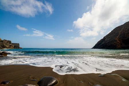 Black sand beach on La Gomera island in Canary Islands Spain
