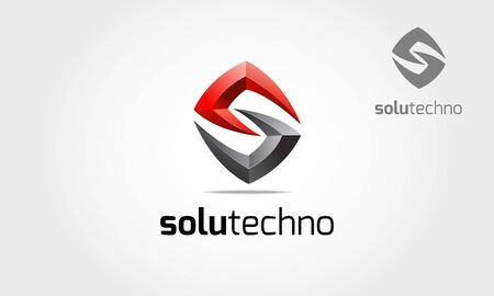 Solutechno Vector Logo Template. This is an abstract logo but also can be interpreted as a letter of