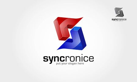 Syncronice Vector Logo Template. This is an abstract logo but also can be interpreted as a letter of