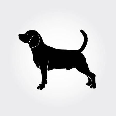 Vector Beagle Dog Silhouette. I realy hope you'll enjoy this dog silhouette. Ilustração
