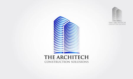 The Architect Construction Solutions Vector Logo Template. Real Estate Logo template, that may suit your company, in order to develop your business communication and reach your target.