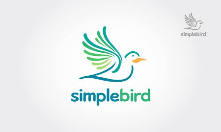 Simple Bird Vector Logo Illustration. Stylized Bird logo template.