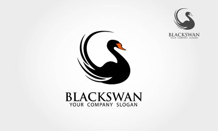 Black Swan Logo Template. Excellent logo,simple and unique.