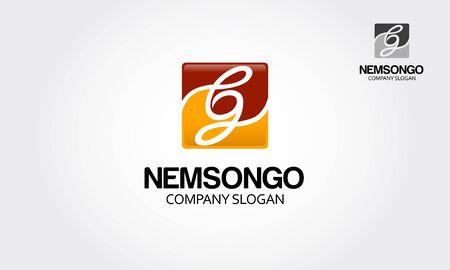 Enem Songo Vector Logo Template. Creative letter logo square. Vectores