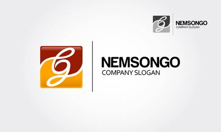 Enem Songo numeric Logo Template. Creative number logo square 2.0 for Your Company.