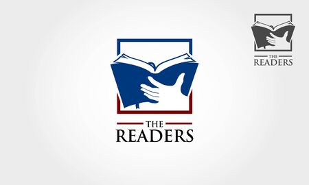 The Reader Vector Logo Template. An excellent logo for Book Publishing company, support writers & make their dream come true by helping them to realize the book into market.