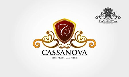 Casanova royal professional crest logo or classic logo template suitable for any kind of business. All image in vector format.