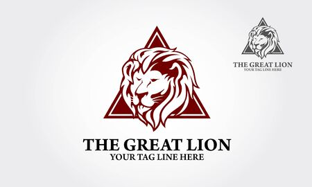 The Great Lion logo template suitable for businesses and product names. Vectores