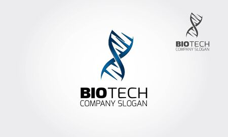 Biotech Vector Logo Template. Stylish Biotech Logo Template. The Biotech logo for use as a DNA sequencer, suitable too research development on industrial, food, and horticulture, etc.