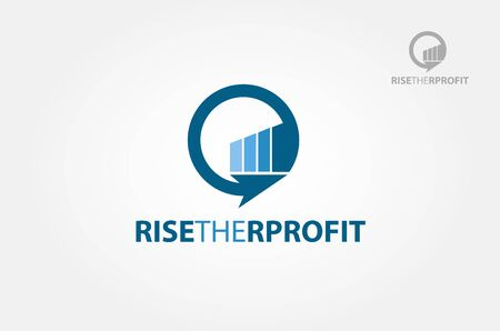 Riset The Profit Vector Logo Template. Vector symbol concept for accounting company. Vector symbol concept for accounting company. A great logo for any company that is related to trading, consulting.