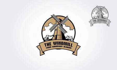 The Windmill logo is a professional logo template suitable for any business related to energy, turbines, technology, innovation, environmental protection, green solutions, electricity suppliers, etc
