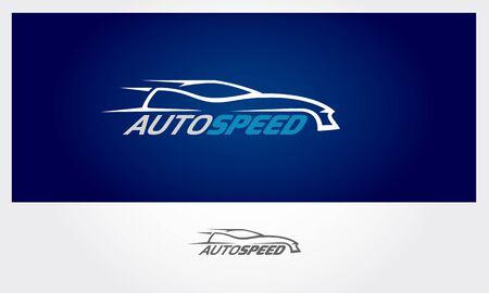 Auto Speed Vector Logo Template. Super car Silhouette Design, vector logo illustration.