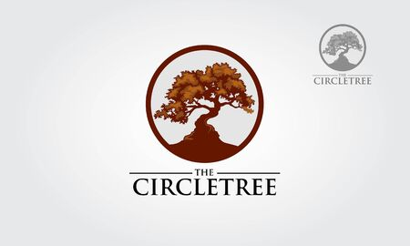 The Circle Tree  Vector , that were created to highlight the organic, natural aspect of our life. This concept could be used for recycling, environment associations, landscape business.