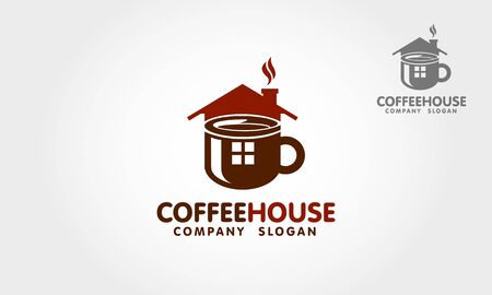 Coffee House Vector   Template. This  is suitable for cafe, restaurant, drink product, shop, business, company, etc.