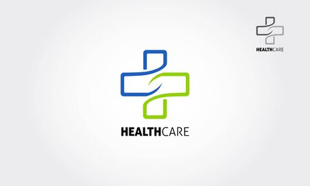 Health Care Vector Logo Template. Medical health-care logo design template. Illustration