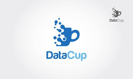 Data Cup Vector Logo Template. Good Logo for Data Cup. A simple and effective logo for an internet marketing business, statistic or analytic.