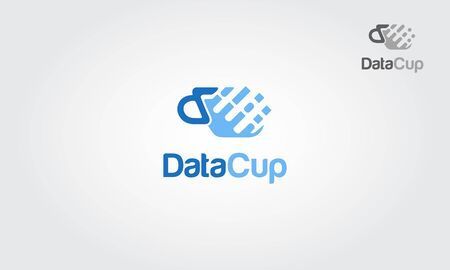 Data cup logo. A simple vector logo illustration.
