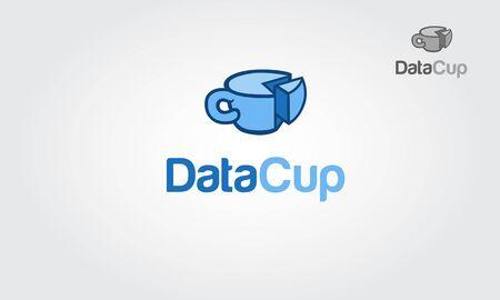 Data Cup Logo Template. Logo of data cup. Vector logo illustration.