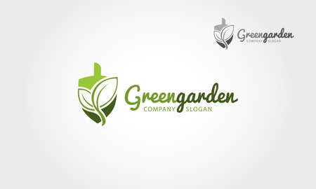 Green Garden Vector Logo Template. This logo is a designed for any types of companies. It's logo template by simple shapes and looks very professional.