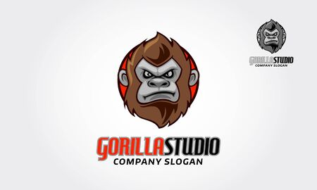 Gorilla Studio Vector Logo Illustration. Great gorillas Studio Logo Template for your company. Foto de archivo - 149183374